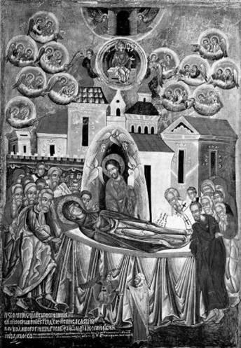 Икона успиння Богородици