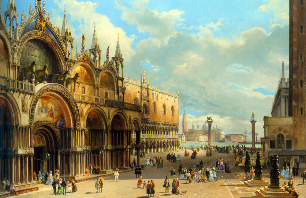 Grubacs_Carlo_St_Marks_and_the_Doges_Palace_Venice_Oil_On_Canvas
